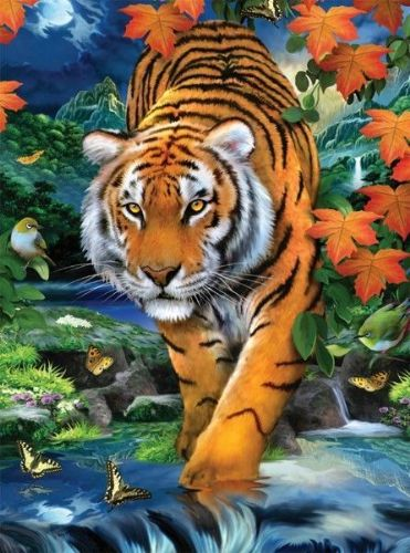 Paint By Numbers -  On The Prowl Tiger